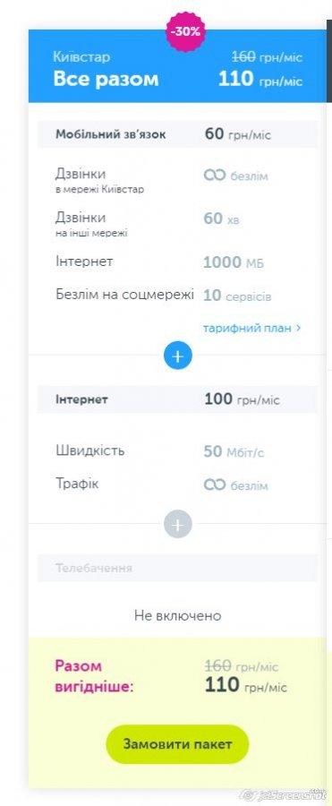 Жалоба-отзыв: Киевстар Все разом -30% - Махинации с тарифом