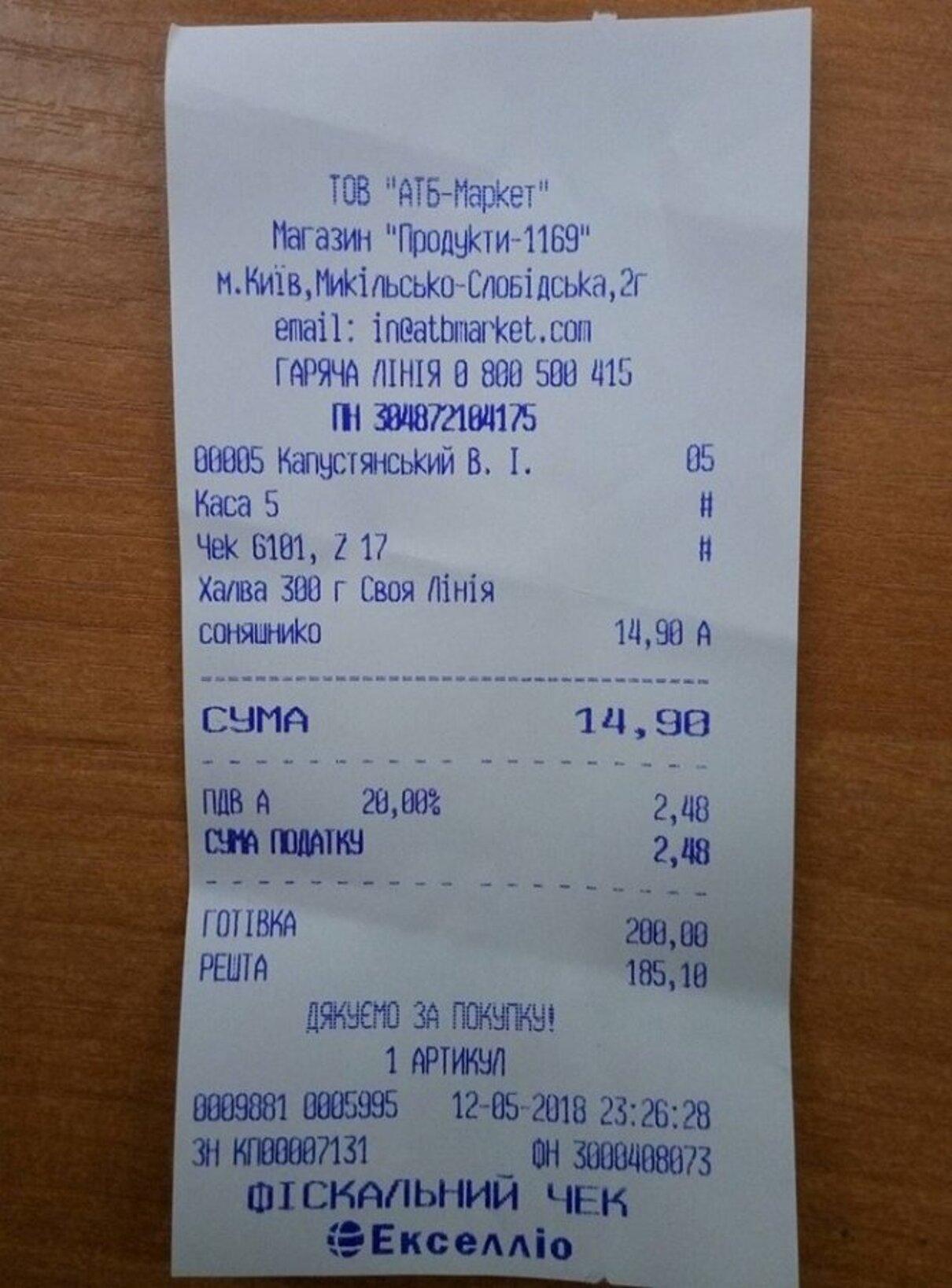 Жалоба-отзыв: АТБ - Жалоба на новый супермаркет АТБ в г.Киеве на Никольско-Слободской, 2Г